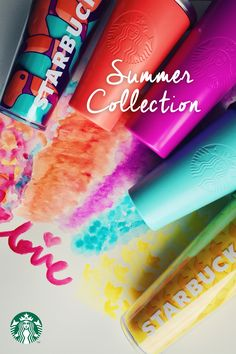 Introducing the Starbucks Summer Collection—inspired by sun, flowers, fruit, and happy summery vibes :)