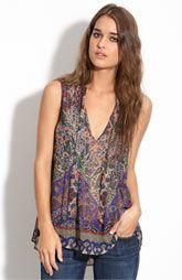 Joie 'Wyeth' sleeveless printed silk blouse