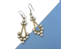 Mexican Sterling Earrings Pierced Drops Made by AtticDustAntiques