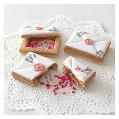 Letter / postcard filled  cookies - Crabapple Approved
