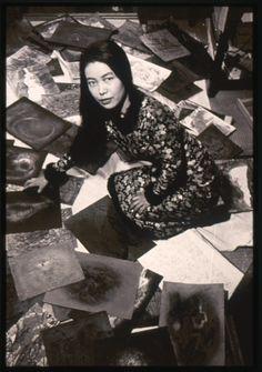 Portrait of Yayoi Kusama in her room in her parents' home in Matsumoto, c.1957  Courtesy Yayoi Kusama Studio, Inc