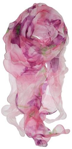 LibbySue-Light  Luxurious 100% Silk Floral Scarves in Soft Colors - Listing price: $40.00 Now: $24.00 + Free Shipping