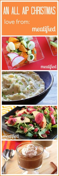 An AIP Christmas Menu with 25 recipes from http://meatified.com #aip #paleo #autoimmune #christmas