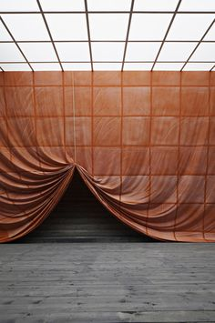 Stage set inspiration for Experience - Ulla von Brandenburg, Pilar Corrias Theatre Design, Stage Design, Set Design, Decoration Inspiration, Design Inspiration, Conception Scénique, Desgin, Fabric Installation, Interactive Installation