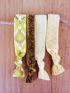 "The ""Mellow Yellow Ties"" Elastic Hair Ties  by TheJarShoppe"