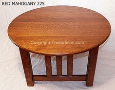Mission Oak Round Coffee Table Quarter Sawn 26 Colors Craftsman Hand Made in USA #TheTreeArtisan #ArtsCraftsMissionStyle