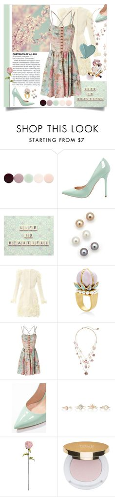 """""""Life Is Beautiful!"""" by happilyjynxed ❤ liked on Polyvore featuring Nails Inc., Buffalo, Bloomingdale's, Giambattista Valli, Gripoix, Betsey Johnson, Shabby Chic, Isaac Mizrahi, Christopher Kane and women's clothing"""