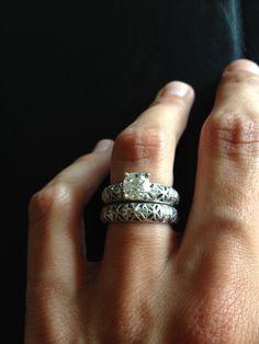 Love my @alishanjewelry wedding set. Thanks guys!