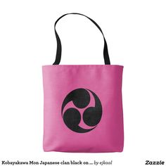 Kobayakawa Mon Japanese clan black on purple Tote Bag