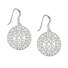 Southern Gates Sterling Silver Round Scroll Earring