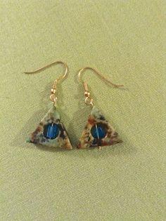 Stone earrings.