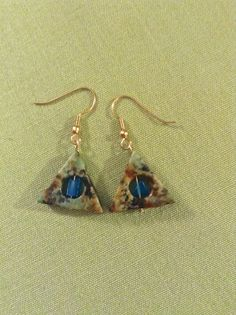 Stone earrings.