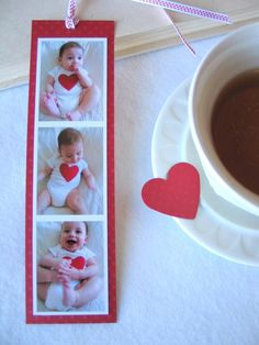 DIY Men Gift Ideas {Just for HIM}...Photo Bookmark gift idea    Last but not the least. A handmade bookmark with photos. So adorable!    Give this to your bookworm.