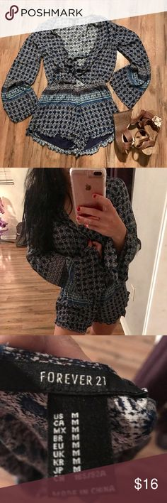 NWOT F21 Romper Purchased at Forever 21 retailed at 30. Super comfy material only worn once for the sale picture. Happy shopping :) I do bundles feel free to ask any questions. Xo Forever 21 Other