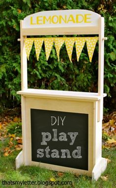 Changeable Play Stand (Lemonade, Market, Post Office, Theater, Bakery and More!)