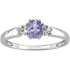 I hope i have a Tanzanite diamond one day! Miadora 10k White Gold Oval-cut Tanzanite and Diamond Accent Ring