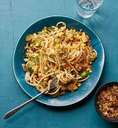 Corn, Zucchini and Jalapeno Spaghetti with Parmesan Crumbs  - Delish.com