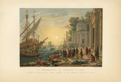 ANTIQUE CLEOPATRA 'S GATE TARSUS TURKEY GALLEY MAST SHIP NAUTICAL COLOR PRINT in Art, Art from Dealers & Resellers, Prints   eBay