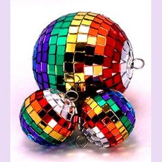 Shiny disco Christmas balls  via Amanda Wright  Repinned by Amy Marie Shadle