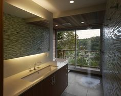 Led Shower Light Design, Pictures, Remodel, Decor and Ideas=- Love the cabinetry