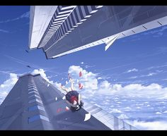 Image result for anime girl falling from the sky