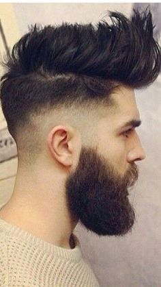 25 Best Pompadour Hairstyles & Haircuts For Men Guide) Quiff Hairstyles, Pompadour Hairstyle, Cool Hairstyles For Men, Haircuts For Men, Beard Styles For Men, Hair And Beard Styles, Short Hair Styles, Hair Cut Guide, Guys Grooming