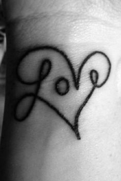 .LOVE. -- If I were able to get a tatoo, this is almost identical to the one I want