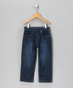 Take a look at this Blue & White Stitch Jeans - Infant, Toddler & Boys by College Boyys on #zulily today!
