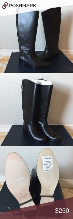 ✨NIB✨Cole Haan Arlington Leather Riding Boot New in Box Cole Haan Arlington Riding Boot! Never worn, only tried on and was too small to wear. Absolutely perfect condition. Small marks at the top of one boot that aren't noticeable from time of purchase. Purchased at Nordstrom. Box has been used as a platform for other boxes and was a little crumbly at the time of purchase😅 Cole Haan Shoes Heeled Boots