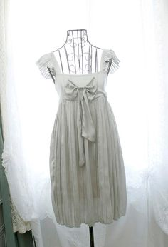 SALE was USD38 French Mademoiselle pale ash gray by miadressshop, $32.00