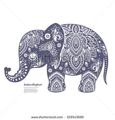 Vintage graphic vector Indian lotus cute ethnic elephant seamless pattern. African tribal ornament. Can be used for a coloring book, textile, prints, phone case, greeting card, business card