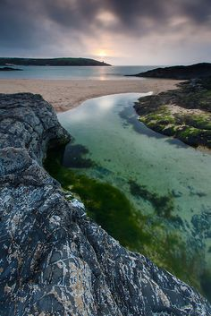 summers evening at Harlyn Bay, Cornwall