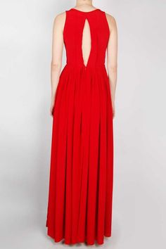 Crepe de Chine Pleated Gown, delicious.