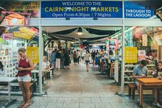 Picking up a souvenir, looking for a bargain or checking out local products, there's something for everyone to enjoy at Cairns markets & night markets Extreme Activities, Local Products, Crazy Night, Cairns, Street View, Australia, Marketing, Beach, Nature