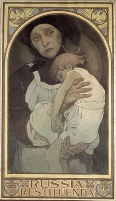 "Mucha, Alphonse Marie -- ""Russia Restituenda, 1922 "" -- High quality art prints, canvases, postcards -- Mucha Foundation Prints"