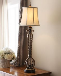 """Shop """"Castalia"""" Buffet Lamp at Horchow, where you'll find new lower shipping on hundreds of home furnishings and gifts. Three Way Switch, Buffet Lamps, Chandelier Lighting, Lighting Design, Home Furnishings, Household, Table Lamp, Bulb, Interior"""