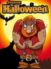 Image d'un méchant ogre, une carte d'invitation à imprimer pour la fête d'Halloween