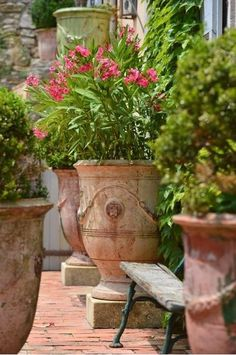 New French Anduze pottery has arrived! Romantic and classic French decor for your garden and landscape projects. Bring French style home.