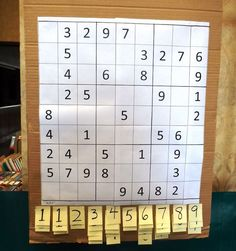 Grove City library's GINORMOUS Sudoku board - What a great idea for a library. Library Games, Library Book Displays, Library Activities, Library Lessons, Library Center, Library Work, Library Bulletin Boards, Library Ideas, Teen Library Space