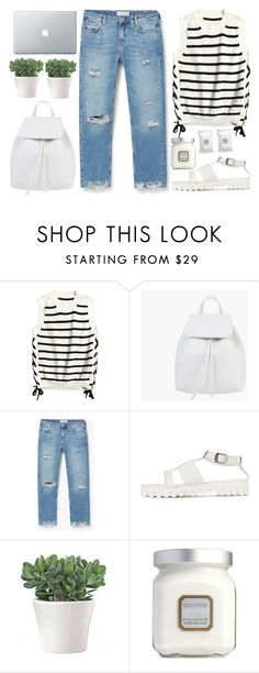 """#Stripe"" by credentovideos ❤ liked on Polyvore featuring MANGO, Laura Mercier and Make"