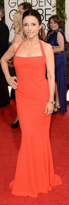 Julia Louis-Dreyfus + gown
