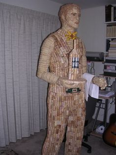 .We thought those other wine cork statues must have taken awhile... but WOW - this is impressive!