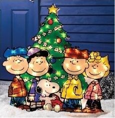 Charlie Brown gang / Snoopy Light up Christmas decor...brings back childhood holiday memories!