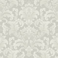 Today Interiors Gatsby Wallpaper - Design 17 - GA31900 ($135) ❤ liked on Polyvore featuring home, home decor, wallpaper, grey, metallic damask wallpaper, gray wallpaper, grey pattern wallpaper, art deco home decor and grey metallic wallpaper