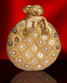 Bridal Indian Evening Handbag Embroidered