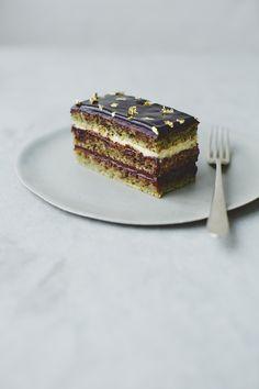 Orange + Cardamom Opera Cake, #recipe by John Whaite