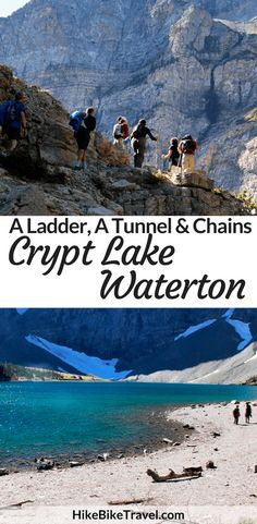 The Crypt Lake hike in Waterton Lakes National Park is one of Canada's most famous and must do hikes that involves a ladder, a tunnel & chains Best Places To Travel, Places To See, Parc National, National Parks, Alberta Travel, Waterton Lakes National Park, Canadian Travel, Canadian Rockies, Visit Canada
