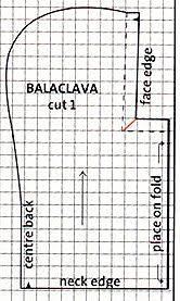 Free pattern for a balaclava helmet