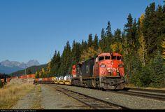 RailPictures.Net Photo: CN 2415 Canadian National Railway GE C40-8M (Dash 8-40CM) at Jasper, Alberta, Canada by Tim Stevens