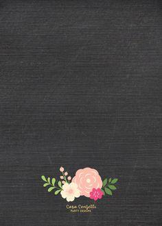 Chalkboard Gold Foil First Birthday Invitation Girl One 1st